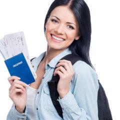 Mulher com visto para trabalhar nos Estados Unidos